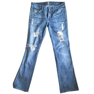 7 For All Mankind Distressed Jeans Size 24